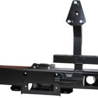 Бампер задний РИФ УАЗ Hunter с площадкой под лебедку и калиткой (469-21123)