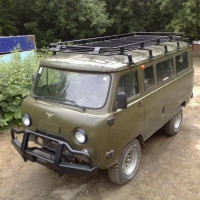 Багажник РИФ УАЗ-452 (корзина RIF01373 + две вставки RIF01351 + 5 к-тов крепежа RIF01374) (к-т)