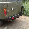 Бампер задний РИФ УАЗ-452 с фаркопом и калиткой (452-21120)