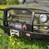 Бампер передний РИФ УАЗ Hunter универсальный усиленный с пилонным кенгурином (469-10602)
